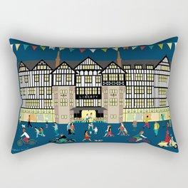 Art Print of Liberty of London Store - Night time Rectangular Pillow