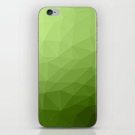 Greenery ombre gradient geometric mesh iPhone Skin