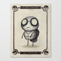 squirtle Canvas Prints featuring #007 Squirtle by Vaughn Pinpin