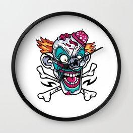 Comic - Clown Skull - bright Wall Clock