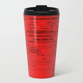 Designer Dialogues AI A Red Travel Mug