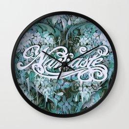 Namaste in Blue Wall Clock