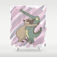 hug Shower Curtains featuring Hug by Roman Jones