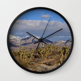 Winter in the Desert Wall Clock