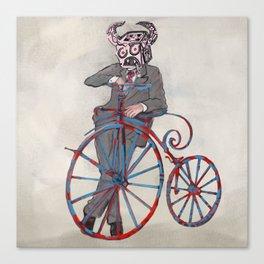 Barry Gangste Farthing - Cream Canvas Print