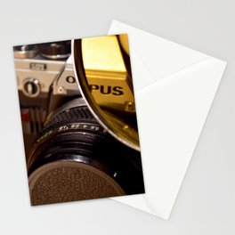 Old Camera with Magnifying Glass Stationery Cards