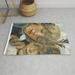 Sandro Botticelli - Angels 1. detail Rug