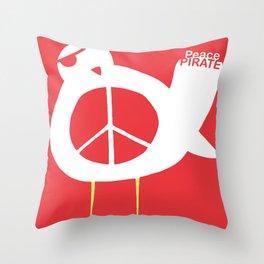 Peace Pirate Throw Pillow
