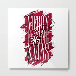 Merry F***ing Xmas Metal Print