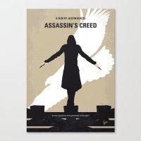 No798 My Assassins Creed minimal movie poster Canvas Print
