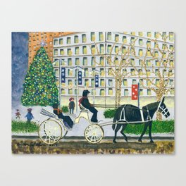 Carriage Ride on Woodward Avenue Canvas Print