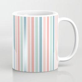 Pink Blue and Green Stripe Pattern Coffee Mug