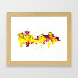 Going Downtown: Kalamazoo Framed Art Print