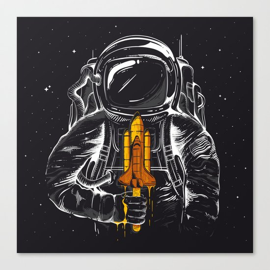 Space Popscicle Canvas Print