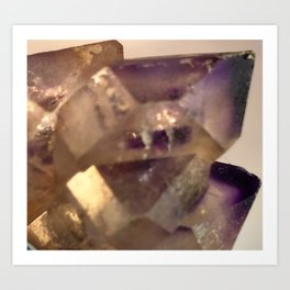 Amethyst Crystal Points Cluster Castle Fantasy Purple Phantoms Said to be the Stone of Sobriety Art Print