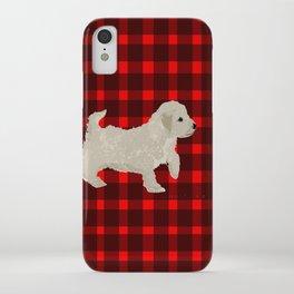 Cockapoo dog art cream iPhone Case