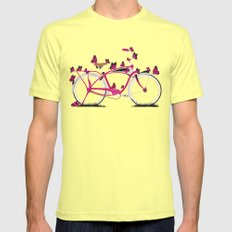 Butterfly Bicycle Lemon LARGE Mens Fitted Tee
