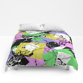 Pastel Marble Tiles Abstract Pattern Comforters