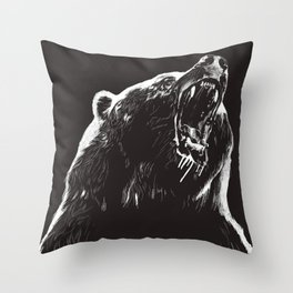 Bear, sketch 2 Throw Pillow
