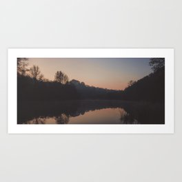 deep hayes sunrise reflection Art Print