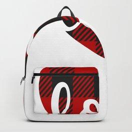 Love Design Love Buffalo Plaid Heart Backpack