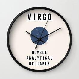 Horoscope Square: Virgo Wall Clock