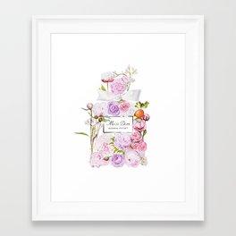 Parfum Perfume Fashion Floral Flowers Blooming Bouquet Framed Art Print