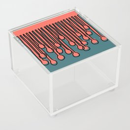Running to you Living Coral Acrylic Box