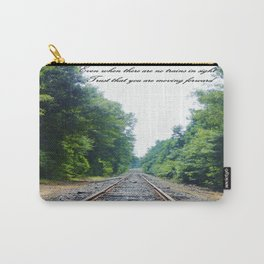 TRAIN Tracks Carry-All Pouch