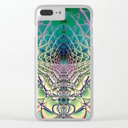 Fractal Abstract 54 Clear iPhone Case