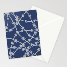 Trapped Navy Stationery Cards