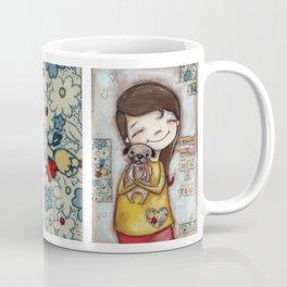 Pug Hug by Diane Duda Coffee Mug