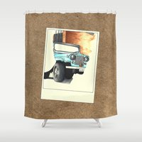 stiles stilinski Shower Curtains featuring Teen Wolf - Stiles Stilinski by Petia Koteva