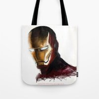 ironman Tote Bags featuring Ironman by Emiliano Morciano (Ateyo)