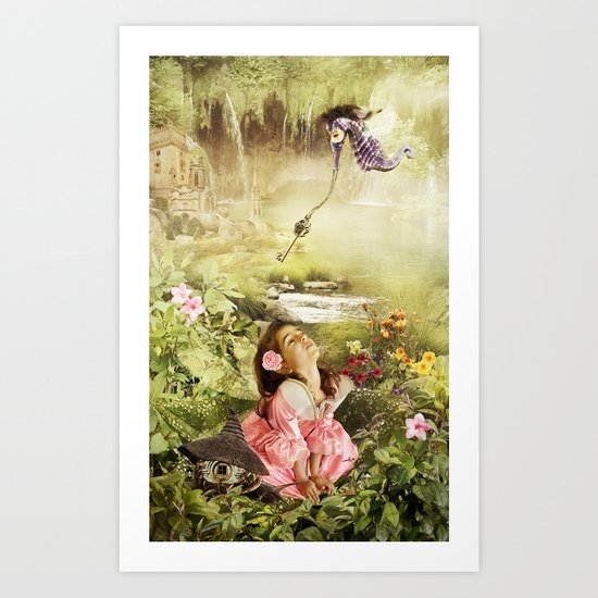 Fairy Mirabell And The Golden Key Art Print