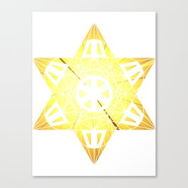 Metatron's Cube Time Wheel ~ Blast Off to Enlightenment Canvas Print