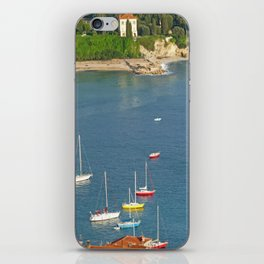 Boats in Villefranche iPhone Skin