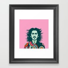 Wind Man Framed Art Print