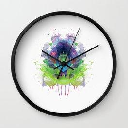 Inknograph XX - Rorschach Art Wall Clock
