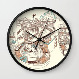 Secret Lives of Luggage Wall Clock