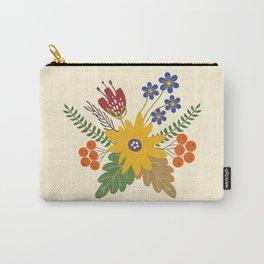 Autumn Fall Flower Bouquet Carry-All Pouch