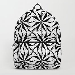 black and symetric patterns 1- Backpack