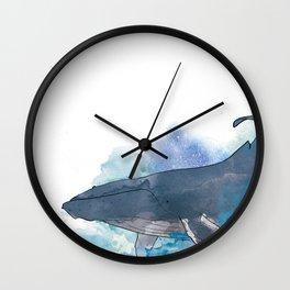 humpback whale Wall Clock