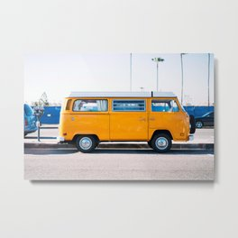 Combi yellow Metal Print