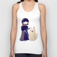 thrones Tank Tops featuring Night Gathers by Nan Lawson