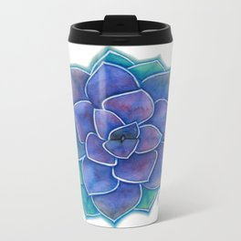 Purple Succulent Plant Metal Travel Mug