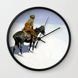 """Frederic Remington Western Art """"The Scout"""" Wall Clock"""