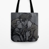 stucky Tote Bags featuring Rain Stucky by DeanDraws