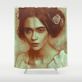 old lady draw Shower Curtain