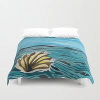 shell Duvet Covers featuring Shell by I'm Knot Tangled